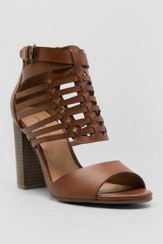 Indigo Rd., Berry Caged Chunky Heels