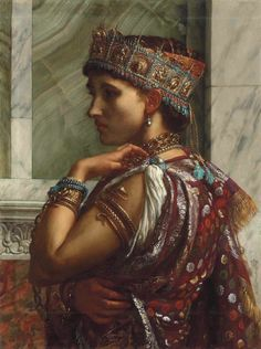 Zenobia Captive.1878. Oil on Canvas. 72 x 54.5 cm. Source : Christies.