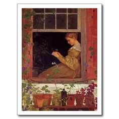 Morning Glories by Winslow Homer, 1873