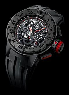 Richard Mille RM032 Dark Diver Chronograph Watch   richard mille