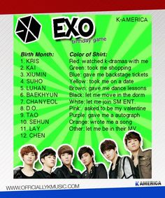 EXO b-day game: Tao let me move in the dorm O.O -comment what you get-