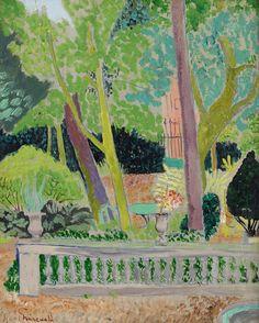 Isaac Grünewald (Swedish, Trädgården i Fontenay-aux-Roses , 1920 Abstract Landscape, Landscape Paintings, Abstract Art, Abstract Trees, Oil Paintings, Landscapes, Nordic Art, Scandinavian Art, Henri Matisse