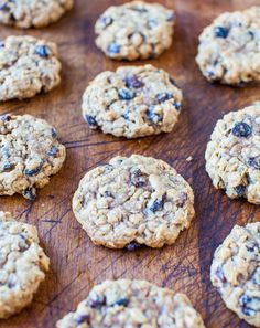 Thick and Chewy Oatmeal Raisin Cookies from @Averie Sunshine {Averie Cooks}