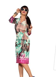 Multicoloured Latest Cotton Kurti gunjfashion.com