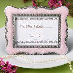 Victorian Design Frame/place-card holders - Pink
