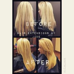extensions by Jade at our Naperville Ogden Location 630-778-8999 www.zanosalons.com