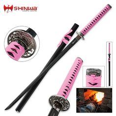 Shinwa Pink Warrior Katana Sword | BUDK.com - Knives & Swords At The Lowest Prices!
