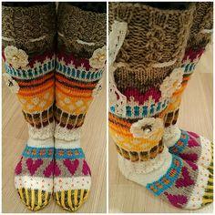 Sukkakori, Colorful knitted socks, villasukat