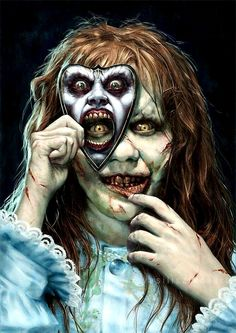 Amazing horror art, The Exorcist recover deleted photos android 2020 Horror Movie Tattoos, Horror Movie Characters, Horror Posters, Horror Icons, Film Posters, Tatto Skull, Desenhos Halloween, Scary Wallpaper, Horror Drawing