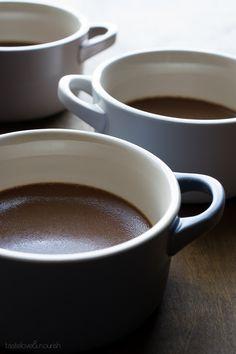 Milk Chocolate Pots de Creme | @tasteLUVnourish | #chocolate #potsdecreme #light