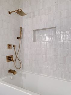 Riad Tile's delicate Snow Zellige Tile provides brightness to any space. Add it your kitchen, bathroom, backsplash or pool. Bathrooms Remodel, Modern Shower, Bathroom Design, Bathroom Renos, Shower Design, House Interior, Tile Bathroom, Modern Shower Design, Bathroom Decor