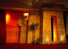foam egyptian facade