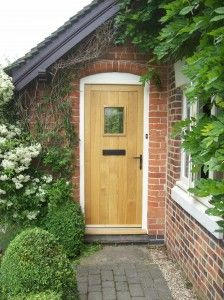 Specialist joiners and builders, Bull Construction UK Ltd, based in Marston Montgomery, near Ashbourne, Derbyshire. Arched Front Door, Hardwood Front Doors, Oak Front Door, Front Door Porch, Front Porch Design, Front Door Entrance, Front Door Colors, Cottage Style Front Doors, Country Front Door