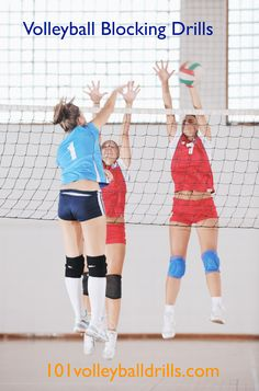 Collection of free volleyball blocking drills for all ages and skill levels. #volleyball #volleyballdrills #volleyballcoach