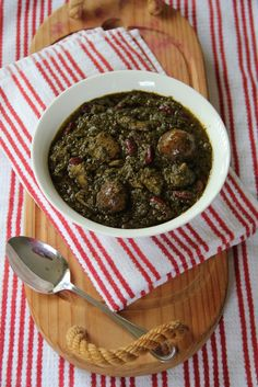 My Persian Feast: Ghormeh-Sabzi - Persian Herb Stew - قورمه‌ سبزی