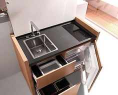 Compact Kitchenette Cools, Cooks & Cleans