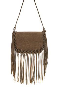 Long Fringe Accented Messenger Bag With Shoulder Strap #GetEverythingElse #MessengerCrossBody