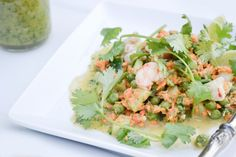 Shrimp Salad with Lime and Cilantro Dressing