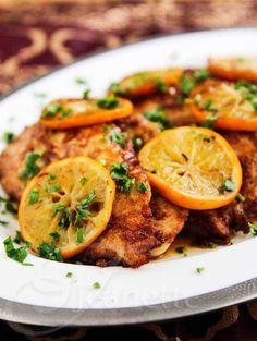 Gluten-Free Chicken Scallopine with Meyer Lemon Sauce - an elegant and delicious dinner idea - you can substitute regular lemons for Meyer lemons