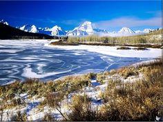 Snake River in Winter, Grand Teton National Park, Wyoming, USA