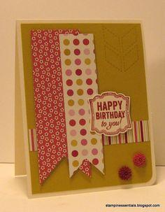 Stampin' Up! Birthday card using the Label Love set + Artisan Punch Bundle