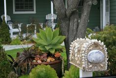 CUTE MAILBOX!!!  ciao! newport beach: at home with seashells
