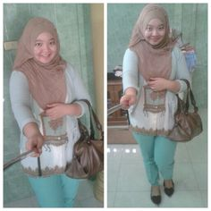 hojab look with my vintage tanktop inside. green and choco look