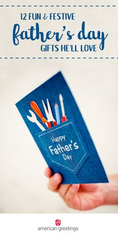 Dads do so much for us! Celebrate all that and more with these 12 Fun and Festive Father's Day Gifts He'll Love. From grilling gear to a thoughtful greeting card, showing your dad how much you appreciate him is the best way to celebrate this summer holiday. Find everything you need at Target.