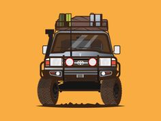 The Determinator by Fajar Nugroho - Dribbble Toyota 4x4, Toyota Hilux, Toyota Tacoma, Toyota Land Cruiser, Land Cruiser 80, Car Vector, Vector Art, Carros Toyota, Cars Motorcycles