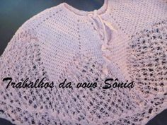 Trabalhos da vovó Sônia: Pelerine rosa Carol - croché