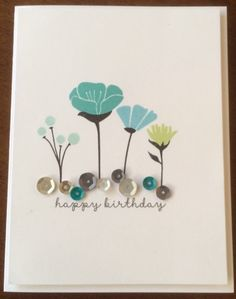 Simple card by Tracey McWaters. CTMH Happy Times stamp set
