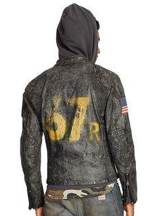 1b21aa511a Denim   Supply Coated Denim Moto Jacket - Denim   Supply Casual Jackets - Ralph  Lauren
