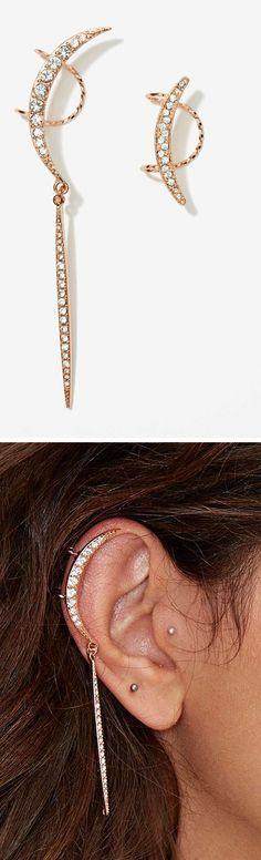 Moon ear cuff