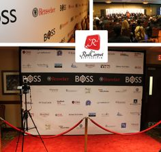 RPI Boss Conference red carpet entrance at Troy Hilton Garden Inn in Troy, NY