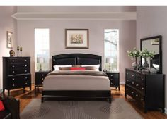 Fenchbarney Babs Black Faux Leather Platform Bed In Ca King Size