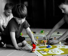 I am Here - A custom play mat with your neighborhood's streets and landmarks. A great way for kids to become familiar with where they live.