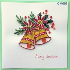Items similar to Christmas Cards on Etsy Quilling Patterns, Quilling Designs, Card Patterns, Quilling Ideas, Quilling Christmas, Diy Christmas Cards, Holiday Crafts, Christmas Ornament, Christmas Ideas