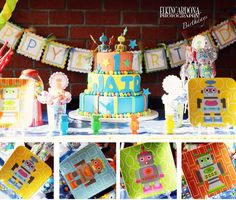 Perfect Birthday Party Idea for a robot themed 1st Birthday!