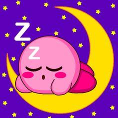 Kirby Sleeping in The Moon by Kirby-Kun123.deviantart.com on @DeviantArt