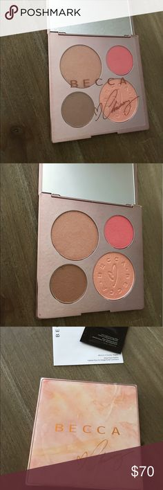 BECCA x Chrissy Teigen Glow Face Palette Gorgeous palette from BECCA and Chrissy Teigen. Brand new, in box, untouched, and with all original packaging. Sold out everywhere, it's a must-have for any makeup maven! 100% authentic, purchased from Sephora. BECCA Makeup