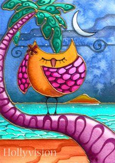 Night Owl provided by Whimsical Art by Holly Kitaura Honolulu 96822