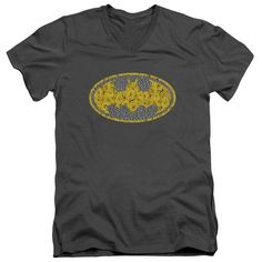 Batman Elephant Rose Signal Adult Slim Fit Adult V-Neck T-Shirt