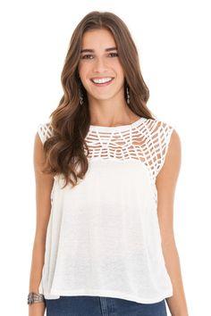Blusa bordado macramê | Dress to