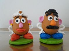 Enfeite / topo de bolo do Sr e Sra Cabeça de Bata. Perfeito para decoração.