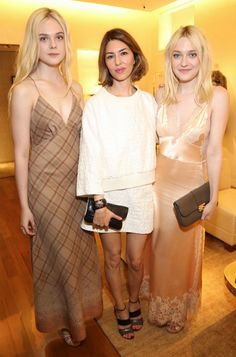 Dakota Fanning team Marc y Elle team Sofia, pero todas con Louis Vuitton