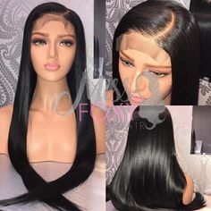 Luffy Indian Silky Straight 13*6 Deep Part Pre Plucked Glueless Lace Front Human Hair Wigs With Baby Hair Natural Non-remy Hair