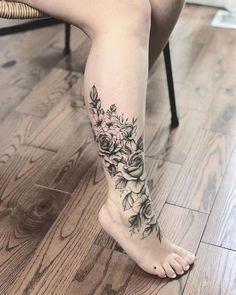 37 Fantastic Leg Tattoo Ideas - Page 5 of 8 - 123 Tattoos . - 37 Fantastic Leg Tattoo Ideas – Page 5 of 8 – 123 Tattoos … 37 Fantastic Leg Tattoo Ideas – - Body Art Tattoos, Tribal Tattoos, Girl Tattoos, Sleeve Tattoos, Cute Tattoos, Calf Tattoo, Ankle Tattoo, Foot Tattoos For Women, Small Tattoos