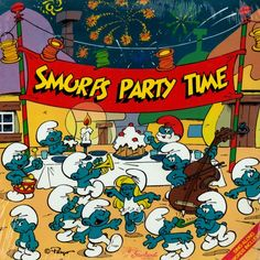 The Smurfs Party Time Birthday Cards, Happy Birthday, Birthday Parties, Christmas Is Coming, Cool Cartoons, Character Drawing, Guys And Girls, Smurfs, Party Time