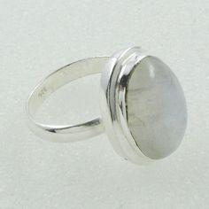 Rainbow Moon Stone Handmade 925 Sterling Silver Ring by JaipurSilverIndia on Etsy