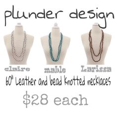 Plunder Design offers chic, stylish jewelry for the everyday woman. Stylish Jewelry, I Love Jewelry, Fashion Jewelry, Plunder Jewelry, Plunder Design, Knot Necklace, Have Some Fun, Jewelery, Chic